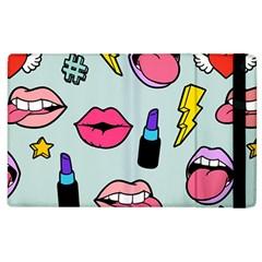 Lipstick Lips Heart Valentine Star Lightning Beauty Sexy Apple Ipad 3/4 Flip Case by Mariart