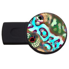 Multiscale Turing Pattern Recursive Coupled Stone Rainbow Usb Flash Drive Round (2 Gb) by Mariart