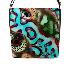 Multiscale Turing Pattern Recursive Coupled Stone Rainbow Flap Messenger Bag (l)  by Mariart