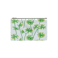 Marimekko Fabric Flower Floral Leaf Cosmetic Bag (small)  by Mariart