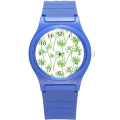 Marimekko Fabric Flower Floral Leaf Round Plastic Sport Watch (s) by Mariart