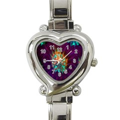 Live Green Brain Goniastrea Underwater Corals Consist Small Heart Italian Charm Watch by Mariart