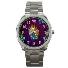 Live Green Brain Goniastrea Underwater Corals Consist Small Sport Metal Watch by Mariart