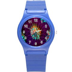 Live Green Brain Goniastrea Underwater Corals Consist Small Round Plastic Sport Watch (s) by Mariart