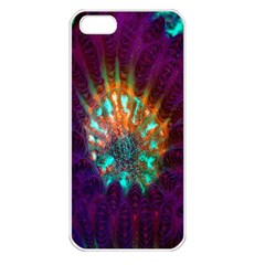 Live Green Brain Goniastrea Underwater Corals Consist Small Apple Iphone 5 Seamless Case (white) by Mariart