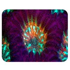 Live Green Brain Goniastrea Underwater Corals Consist Small Double Sided Flano Blanket (medium)  by Mariart