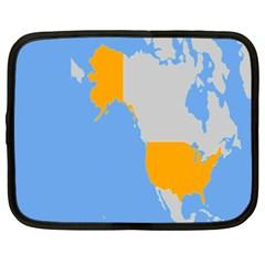 Map Transform World Netbook Case (xxl)  by Mariart