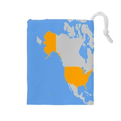 Map Transform World Drawstring Pouches (large)  by Mariart