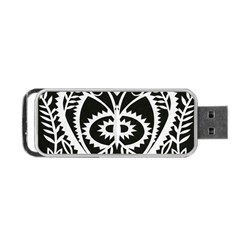 Paper Cut Butterflies Black White Portable Usb Flash (one Side) by Mariart