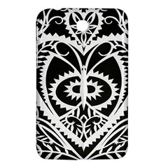 Paper Cut Butterflies Black White Samsung Galaxy Tab 3 (7 ) P3200 Hardshell Case  by Mariart