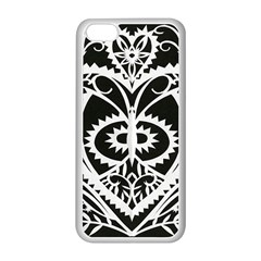 Paper Cut Butterflies Black White Apple Iphone 5c Seamless Case (white) by Mariart