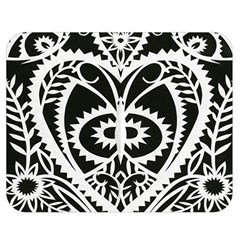 Paper Cut Butterflies Black White Double Sided Flano Blanket (medium)  by Mariart