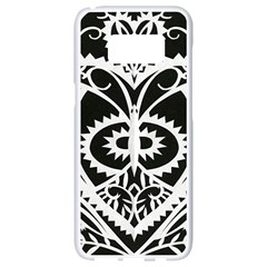Paper Cut Butterflies Black White Samsung Galaxy S8 White Seamless Case by Mariart