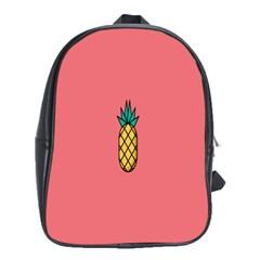 Pineapple Fruite Minimal Wallpaper School Bag (xl) by Mariart