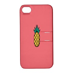 Pineapple Fruite Minimal Wallpaper Apple Iphone 4/4s Hardshell Case With Stand by Mariart
