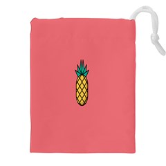 Pineapple Fruite Minimal Wallpaper Drawstring Pouches (xxl) by Mariart