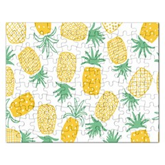 Pineapple Fruite Seamless Pattern Rectangular Jigsaw Puzzl by Mariart