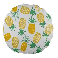 Pineapple Fruite Seamless Pattern Large 18  Premium Round Cushions by Mariart