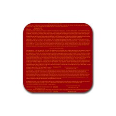 Mrtacpans Writing Grace Rubber Coaster (square)  by MRTACPANS