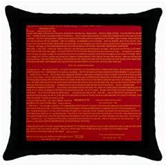 Mrtacpans Writing Grace Throw Pillow Case (black) by MRTACPANS