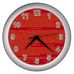 Mrtacpans Writing Grace Wall Clocks (silver)  by MRTACPANS