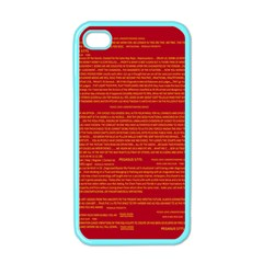 Mrtacpans Writing Grace Apple Iphone 4 Case (color) by MRTACPANS