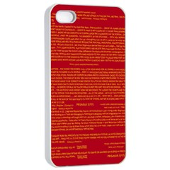 Mrtacpans Writing Grace Apple Iphone 4/4s Seamless Case (white) by MRTACPANS
