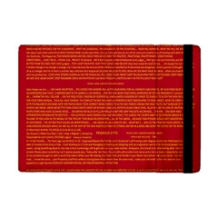 Mrtacpans Writing Grace Apple Ipad Mini Flip Case by MRTACPANS