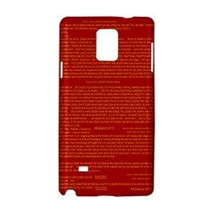 Mrtacpans Writing Grace Samsung Galaxy Note 4 Hardshell Case by MRTACPANS