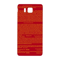 Mrtacpans Writing Grace Samsung Galaxy Alpha Hardshell Back Case by MRTACPANS