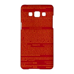Mrtacpans Writing Grace Samsung Galaxy A5 Hardshell Case  by MRTACPANS