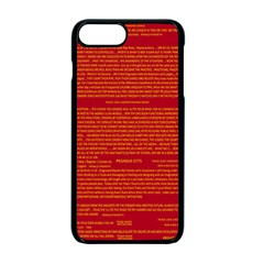 Mrtacpans Writing Grace Apple Iphone 7 Plus Seamless Case (black) by MRTACPANS
