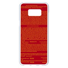 Mrtacpans Writing Grace Samsung Galaxy S8 Plus White Seamless Case by MRTACPANS