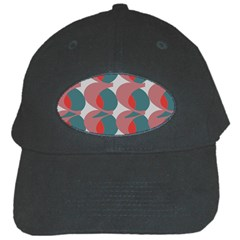 Pink Red Grey Three Art Black Cap by Mariart