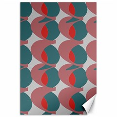 Pink Red Grey Three Art Canvas 20  X 30   by Mariart