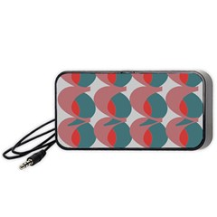 Pink Red Grey Three Art Portable Speaker (black) by Mariart