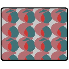 Pink Red Grey Three Art Double Sided Fleece Blanket (medium)  by Mariart
