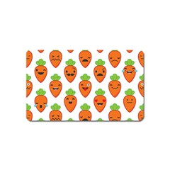 Seamless Background Carrots Emotions Illustration Face Smile Cry Cute Orange Magnet (name Card) by Mariart