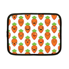 Seamless Background Carrots Emotions Illustration Face Smile Cry Cute Orange Netbook Case (small)  by Mariart