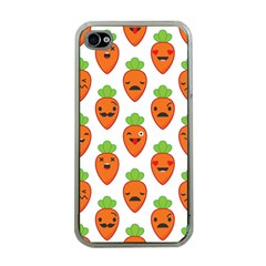 Seamless Background Carrots Emotions Illustration Face Smile Cry Cute Orange Apple Iphone 4 Case (clear) by Mariart