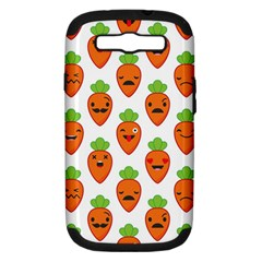 Seamless Background Carrots Emotions Illustration Face Smile Cry Cute Orange Samsung Galaxy S Iii Hardshell Case (pc+silicone) by Mariart