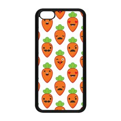 Seamless Background Carrots Emotions Illustration Face Smile Cry Cute Orange Apple Iphone 5c Seamless Case (black) by Mariart