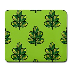 Seamless Background Green Leaves Black Outline Large Mousepads by Mariart