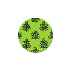 Seamless Background Green Leaves Black Outline Golf Ball Marker (4 Pack) by Mariart