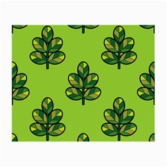 Seamless Background Green Leaves Black Outline Small Glasses Cloth (2 Side) by Mariart
