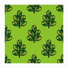 Seamless Background Green Leaves Black Outline Medium Glasses Cloth (2 Side) by Mariart