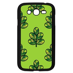 Seamless Background Green Leaves Black Outline Samsung Galaxy Grand Duos I9082 Case (black) by Mariart
