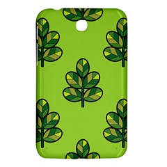Seamless Background Green Leaves Black Outline Samsung Galaxy Tab 3 (7 ) P3200 Hardshell Case  by Mariart