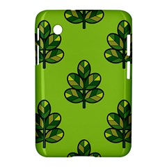 Seamless Background Green Leaves Black Outline Samsung Galaxy Tab 2 (7 ) P3100 Hardshell Case  by Mariart