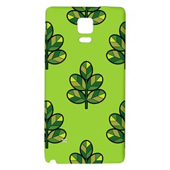 Seamless Background Green Leaves Black Outline Galaxy Note 4 Back Case by Mariart